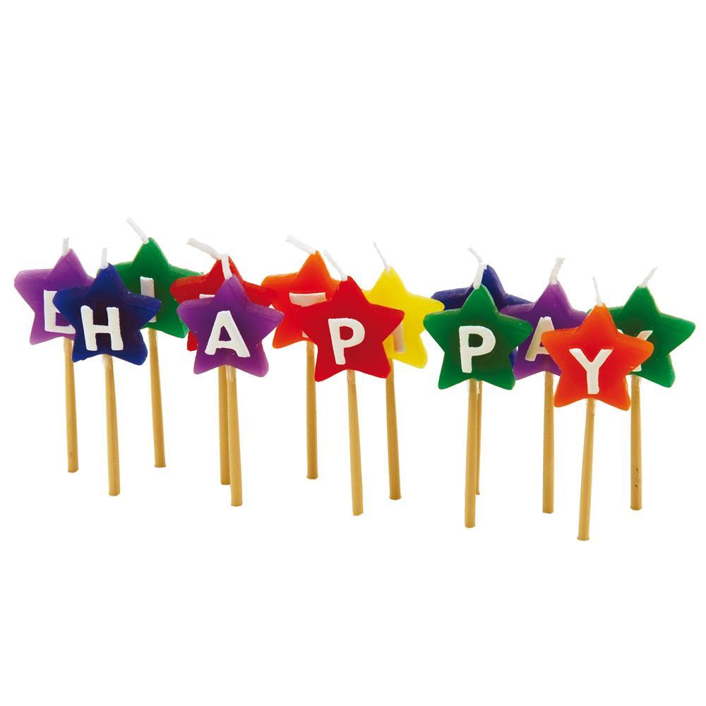 Conjunto Com 13 Velas Happy Birthday Estrela Tala - 10312