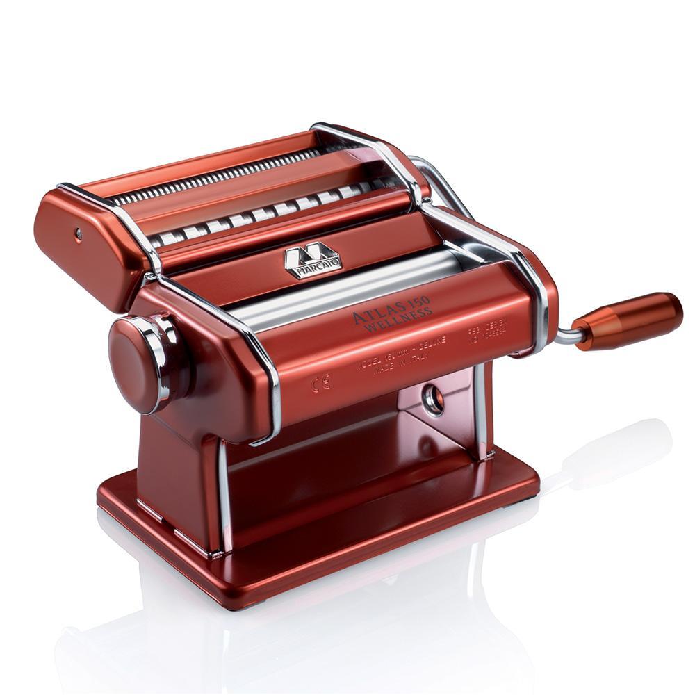 Máquina Para Macarrão Marcato 3 Tipos De Massas Atlas 150 Vermelha