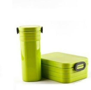 Marmita Quadrada Com Copo Verde Basic Kitchen