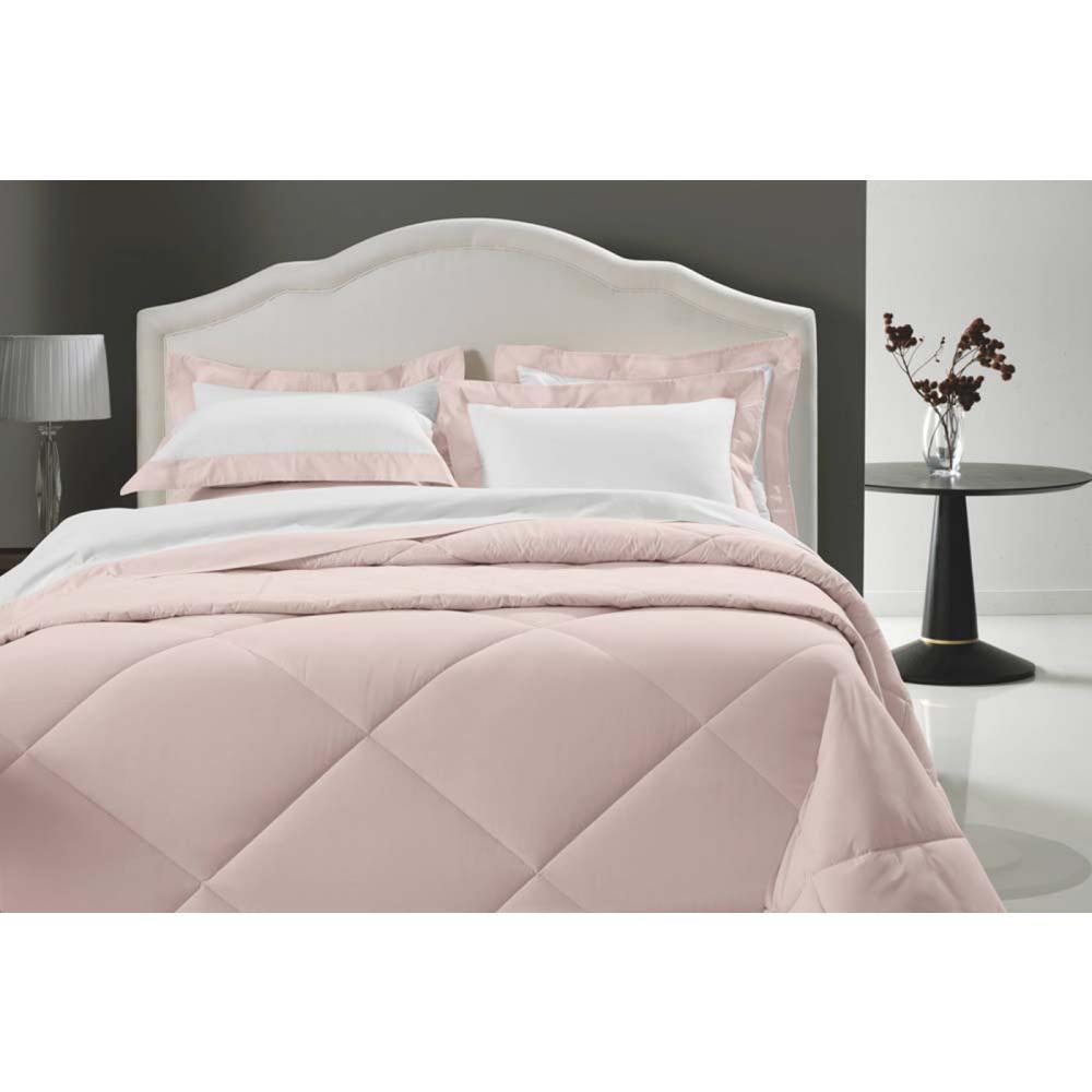 Jogo Cama 200f Queen Ideale Branco/rose 2,40x2,60m