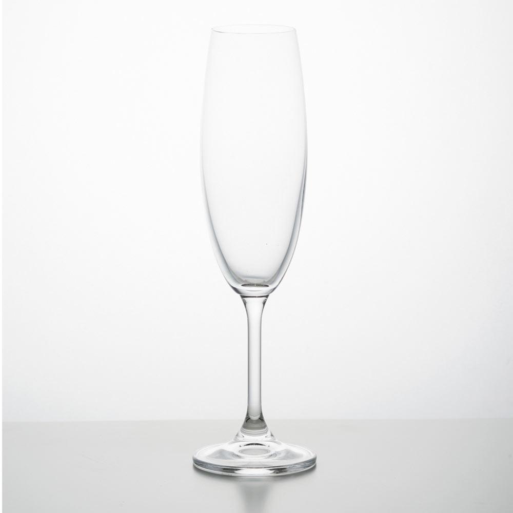 Jogo 6 Taças De Vidro Para Champagne 220Ml Klara Bohemia - 5504