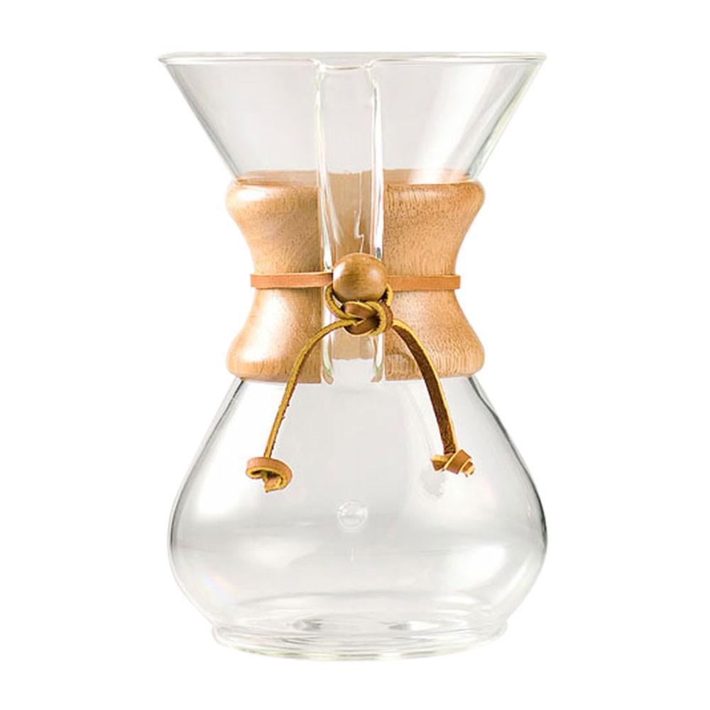 Passador De Café Com Alça De Madeira 6 Xícaras Chemex - Ch-Cm6A