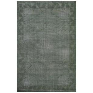 Tapete Indiano Afhgan Washed 1.40X2.00 Cor Verde 106