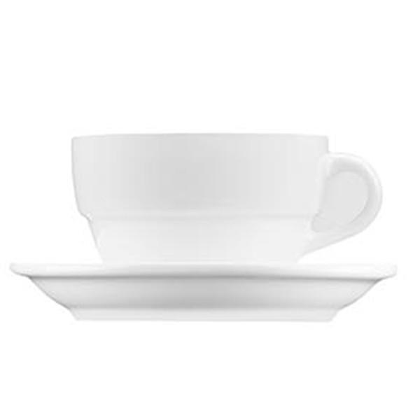 Xicara Baixa Com Pires Para Café 70Ml Durable White Brinox