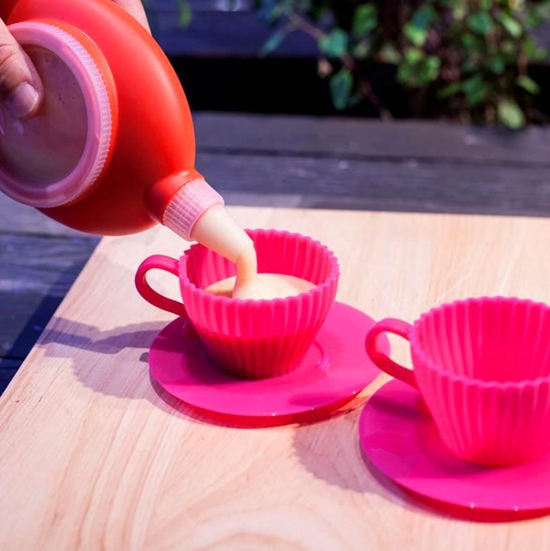 Conjunto De Xícaras De Silicone Para Cupcake Prana - Sils1401