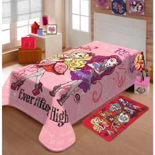 Cobertor Raschel Juvenil Ever After High 1,50 X 2,00M Jolitex