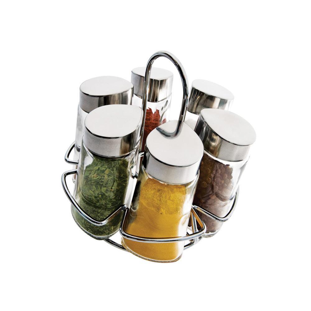 Conjunto Porta Condimentos Com Suporte 6Pçs Euro - 80121