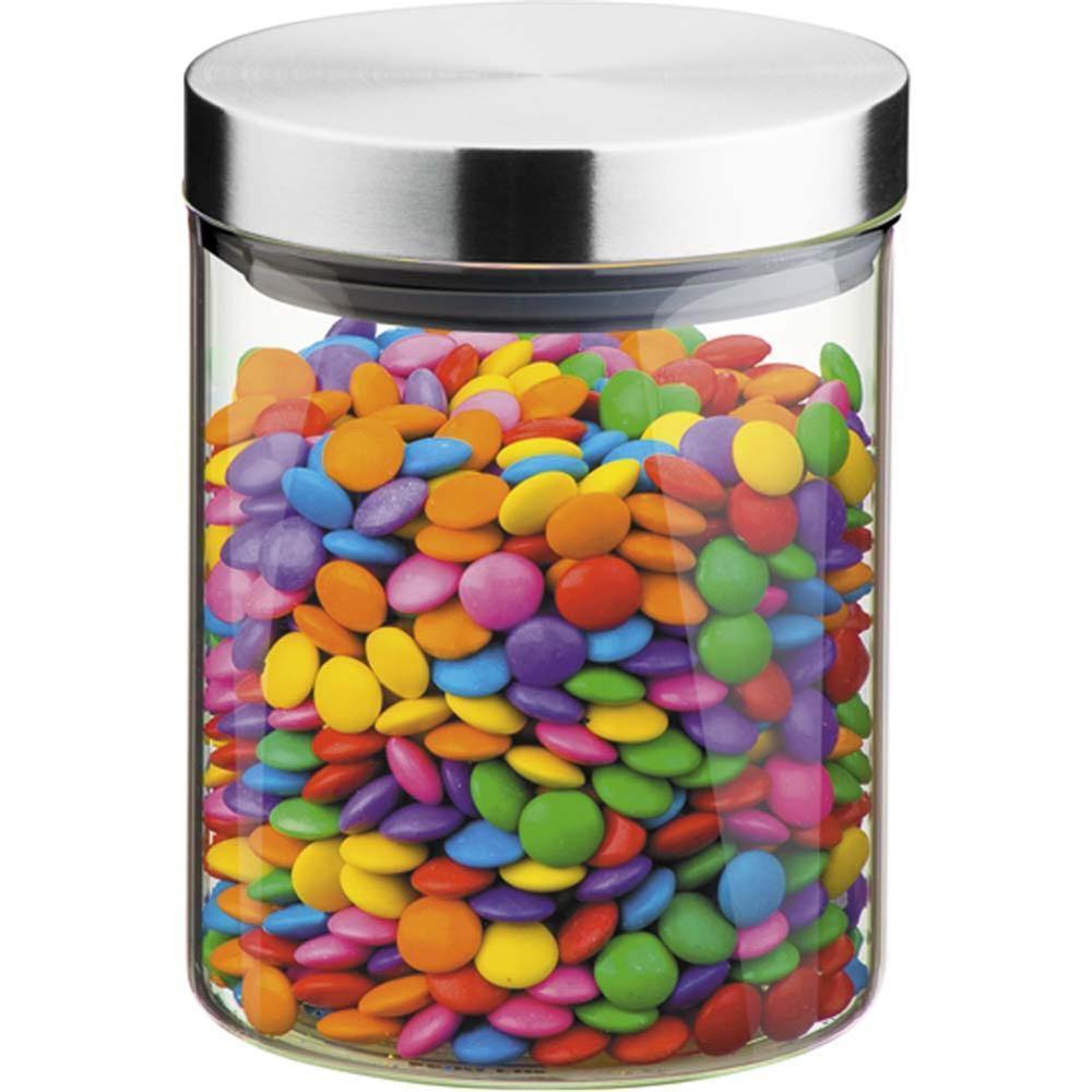 Pote De Vidro Com Tampa Inox 11,5 X 14 Cm, 1,5 Litros Brinox