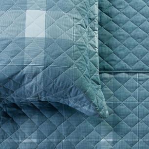 Kit Cobre Leito King Percal Azul Colorado Artex