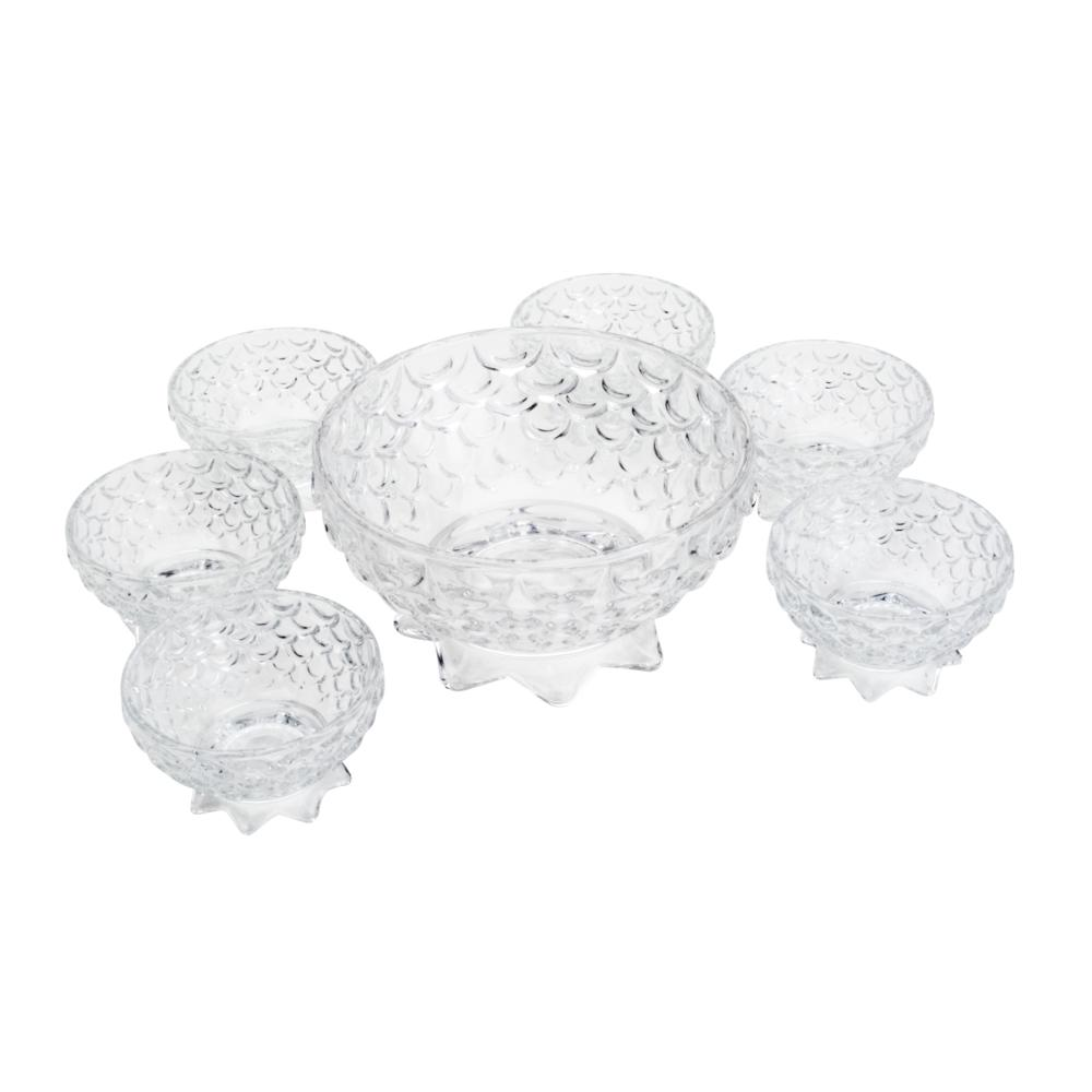 Conjunto 7 Peças Para Sobremesa Cristal Pineapple 19/10,5cm Lyor