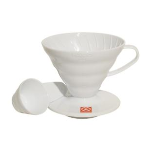 Suporte Para Filtro De Café Hario Mod V60-02 Branco De Acrílico