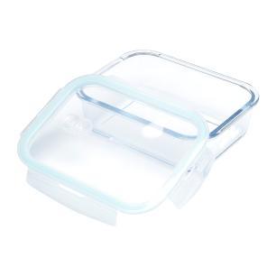 Pote Hermético de Vidro Transparente e Azul 1,5l Lyor