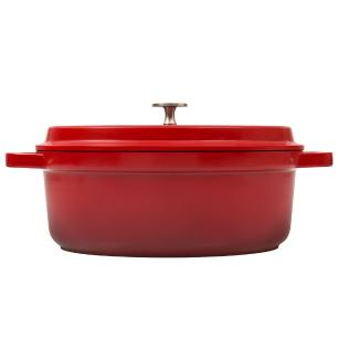 Caçarola Oval 26Cm Grand Gourmet Vermelha Brinox