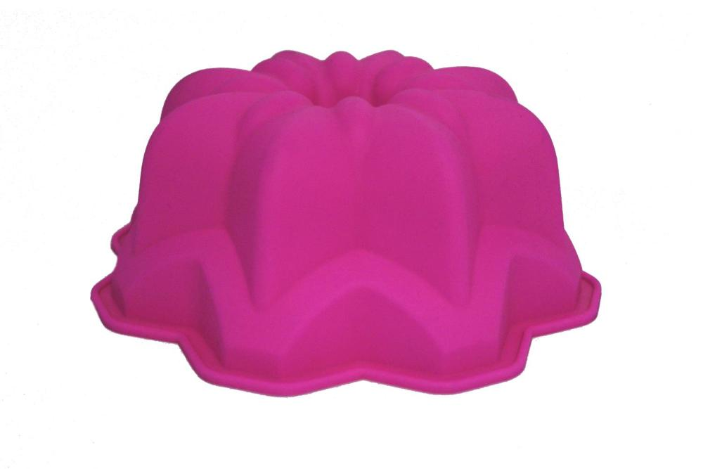 Forma De Bolo Silicone Star 71205 Rosa Basic Kitchen