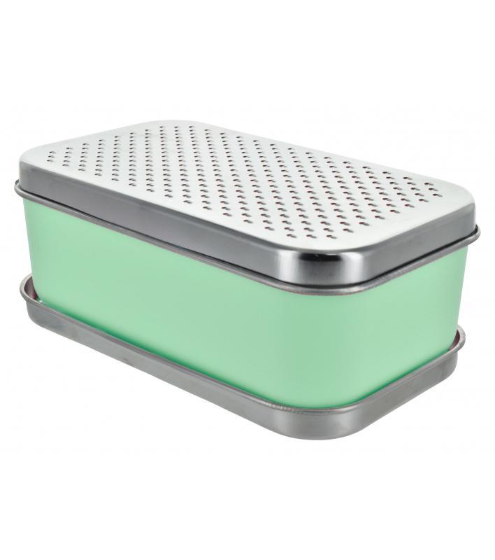 Ralador Retangular Com Dispenser Turqueza Basic Kitchen
