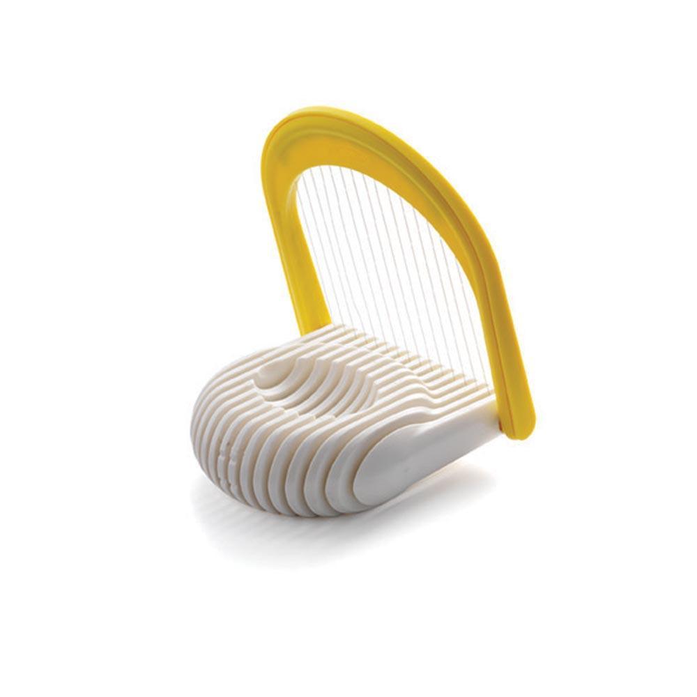 Fatiador Duplo De Ovos E Mussarela Chef´N Amarelo E Branco