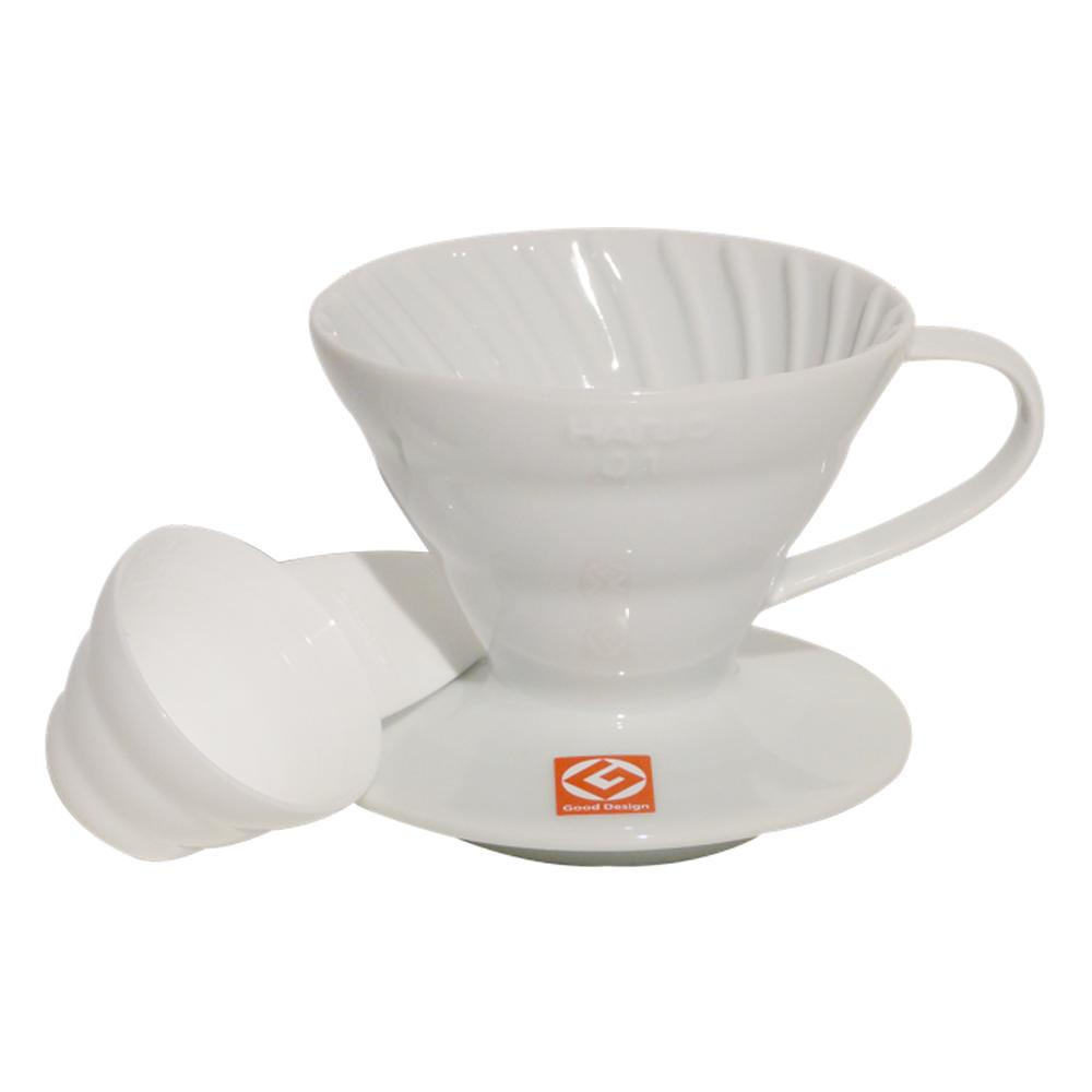 Suporte Para Filtro De Café Hario Mod V60-01 Branco De Acrílico