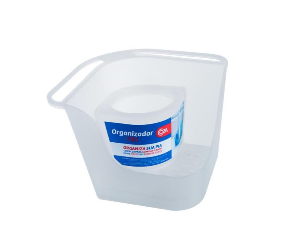 Organizador De Pia Flex 16,6 X 16,6 X 12 Cm Natural Coza