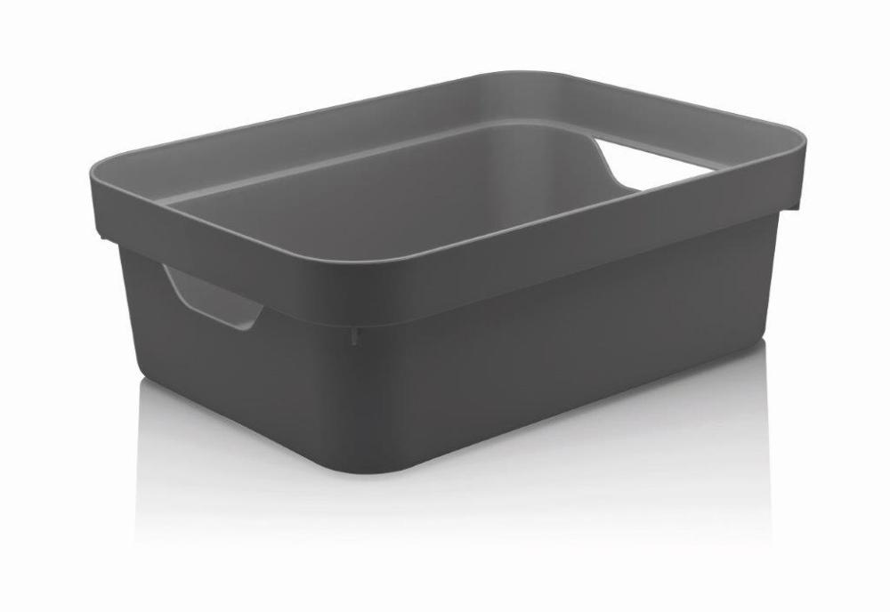 Caixa Organizadora Cube M 10,5 Litros Chumbo Ou