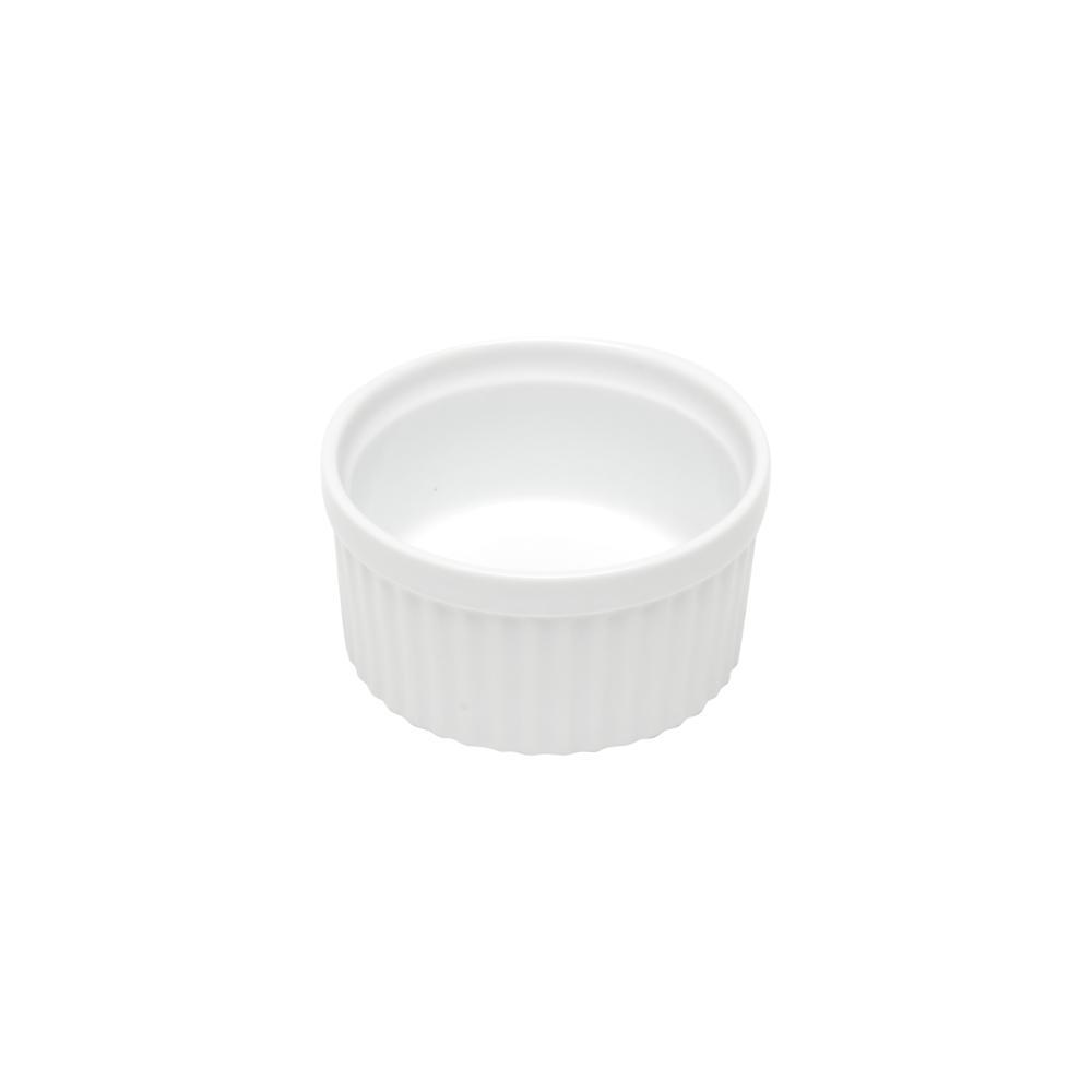 Ramequim de Porcelana Classic Branca 8,5x5cm Lyor