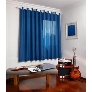 Cortina Londres Azul 1,80 A X 2,80 L - Santista