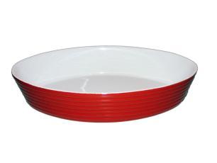 Refratário Oval Cerâmico 36X23,5X6,5Cm Vermelho Meridional