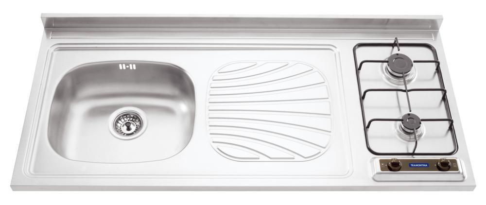 Pia-fogão Em Aço Inox 120 X 60 Cm Tramontina 93720/103