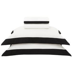 Jogo Cama 200f Queen Ideale Branco/preto 2,40x2,60m