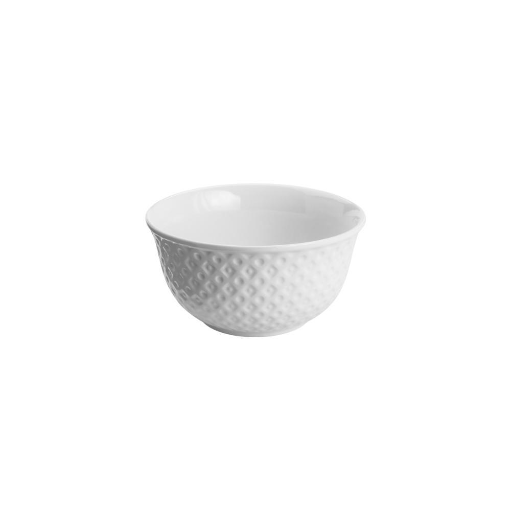 Bowl Porcelana New Bone China Losango Branco 12cm Lyor