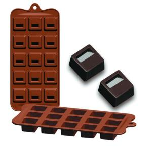 Molde Silicone Chocolates Bloq Ibili - 860302