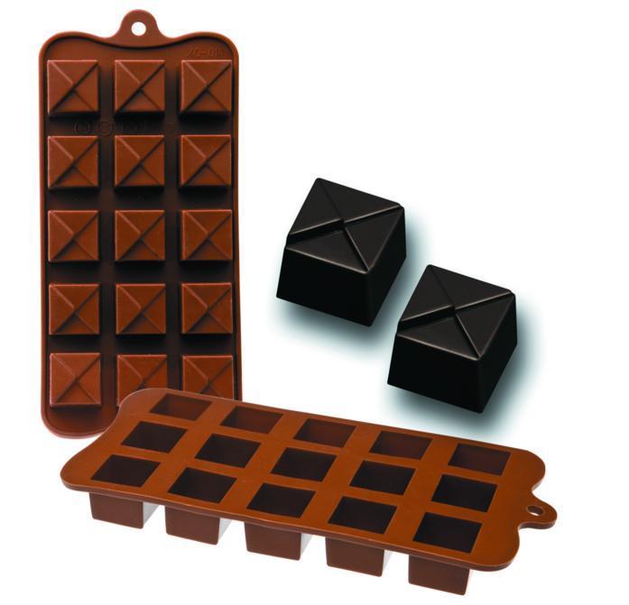 Molde Chocolates Silicone Chocolate Geo Ibili - 860306