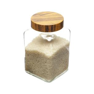 Pote de Vidro Wood Transpara Marrom 2l Lyor