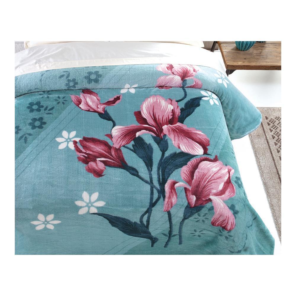 Cobertor Kyor Plus Oquideas Casal 1,80 X 2,20M Jolitex