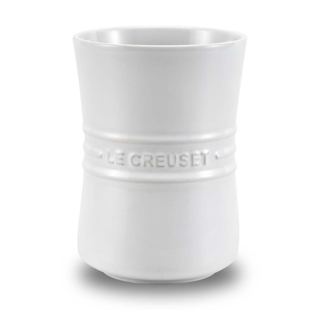 Porta Utensílios Em Cerâmica Branco Le Creuset