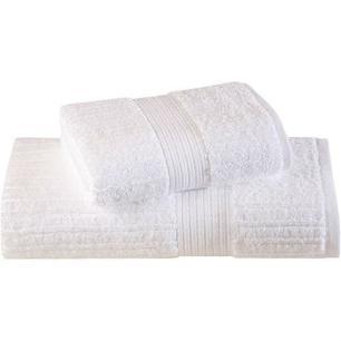 Toalha de Banho Fio Penteado Canelado Branca Buddemeyer