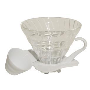 Suporte Para Filtro De Café Hario V60-02 De Vidro Branco