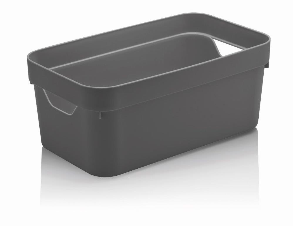 Caixa Organizadora Cube P 5,3 Litros Chumbo Ou