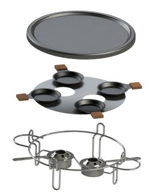 Raclete Grill 8 Peças Forma