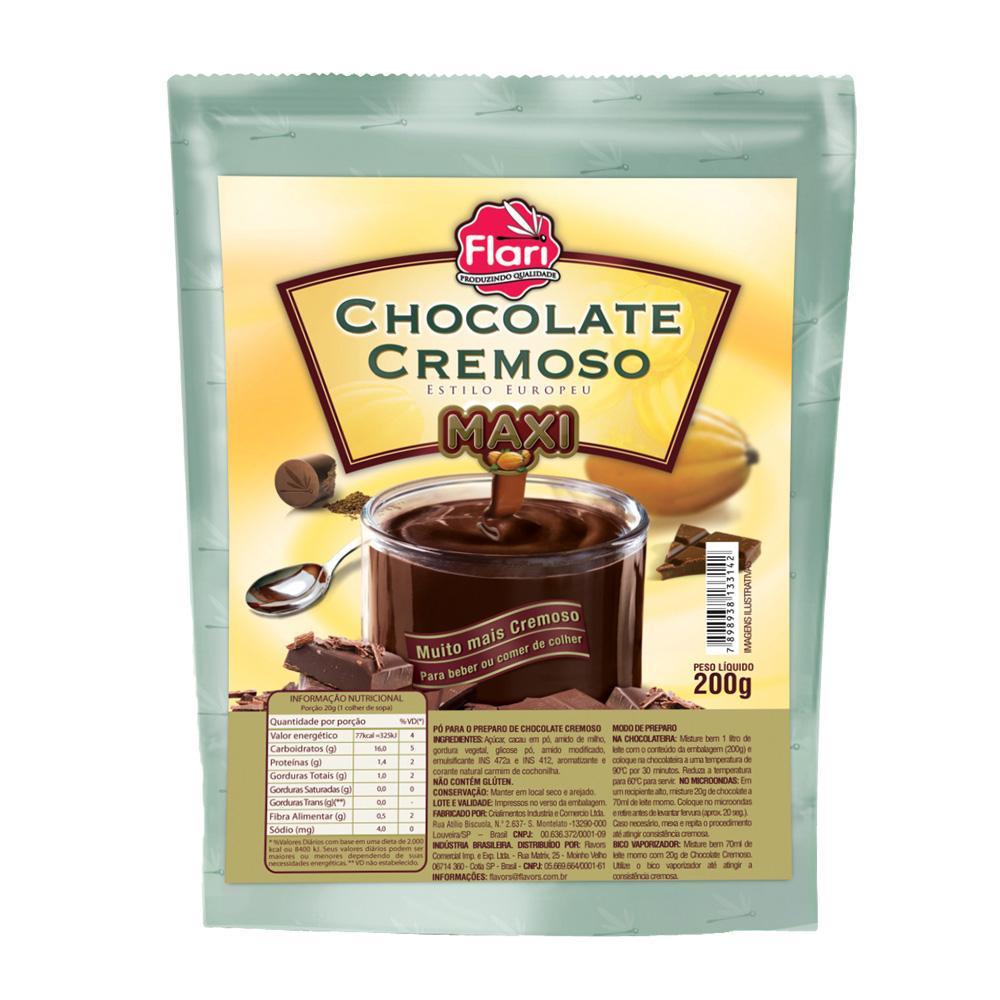 Chocolate Cremoso Maxi 200Gr Flari