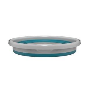 Balde Retrátil Flash Limp de Silicone Dobrável Plástico Verde Flexível 10 Litros