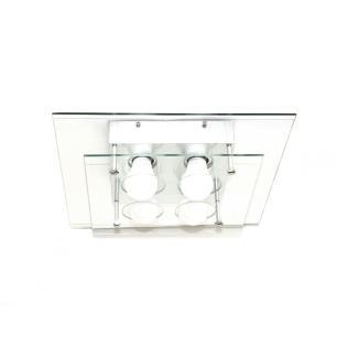Plafon Vidro Duplo Transparente Living para 4 E27