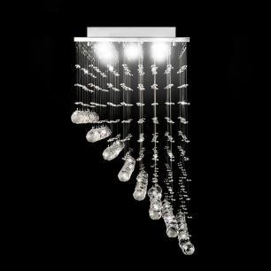 Lustre de Cristal Rampa para 5 Lâmpadas GU10