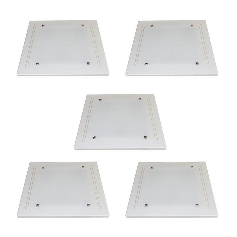 Kit 5 Plafons Sobrepor 3*E27 cada - KIT5PFSOBJAT40