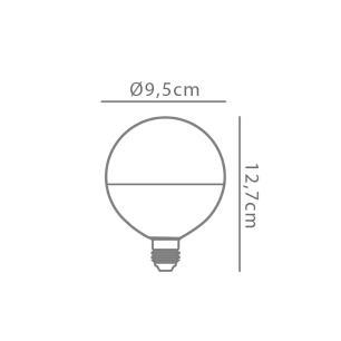 Lâmpada G95 12w 2700K E-27 Bivolt Opus - LP-34195