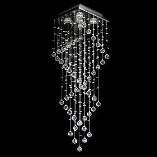 Lustre De Cristal Aomori 38x38x120cm Jp-Aomori-38