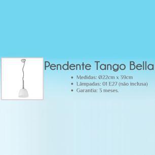 Pendente Tango Branco para 1 Lâmpada E27 - BQ004W