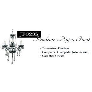 Lustre Anjou Fumê Para 3 Lâmpadas E14 - JF023S