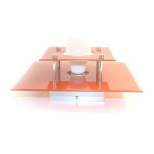 Plafon Vidro Duplo Cobre Living para 1 Lâmpada E27