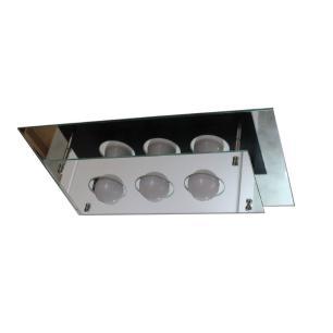 Plafon Retangular Vidro Duplo Espelhado E-27