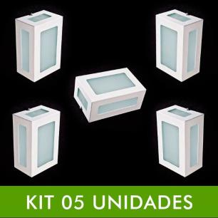 Kit com 5 Arandelas Retangular Area Externa